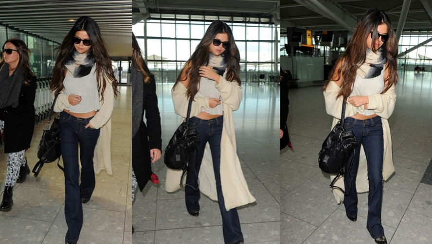 Get the Look: Selena Gomez at Heathrow Airport
