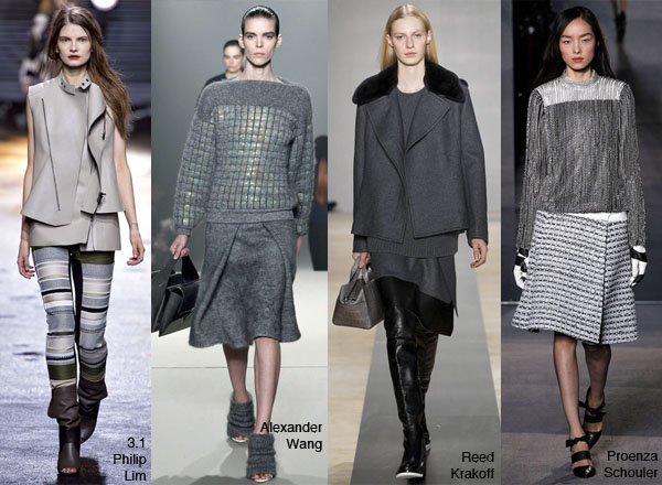 Grey fashion, Grey runway