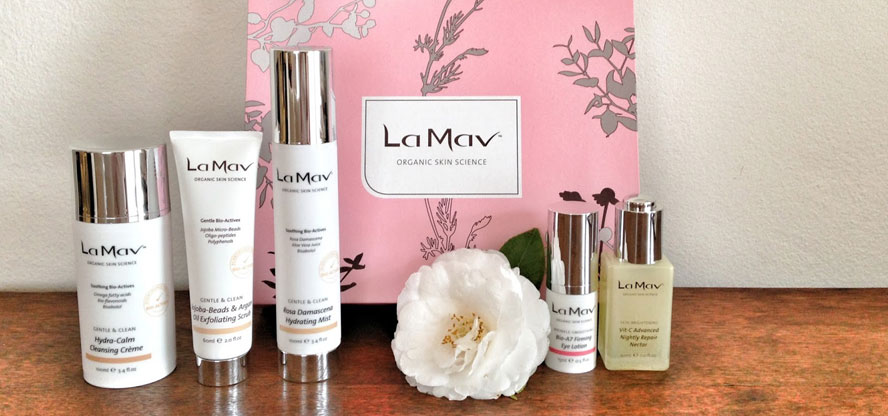 La Mav, skincare, beauty products, makeup