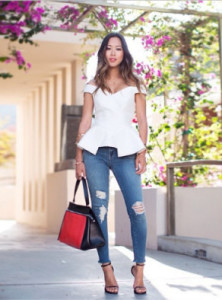 Aimee Song, Off-the-shoulder, style, trend talk, fashion