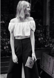 off-the-shoulder, trend talk, culottes, crop top, style