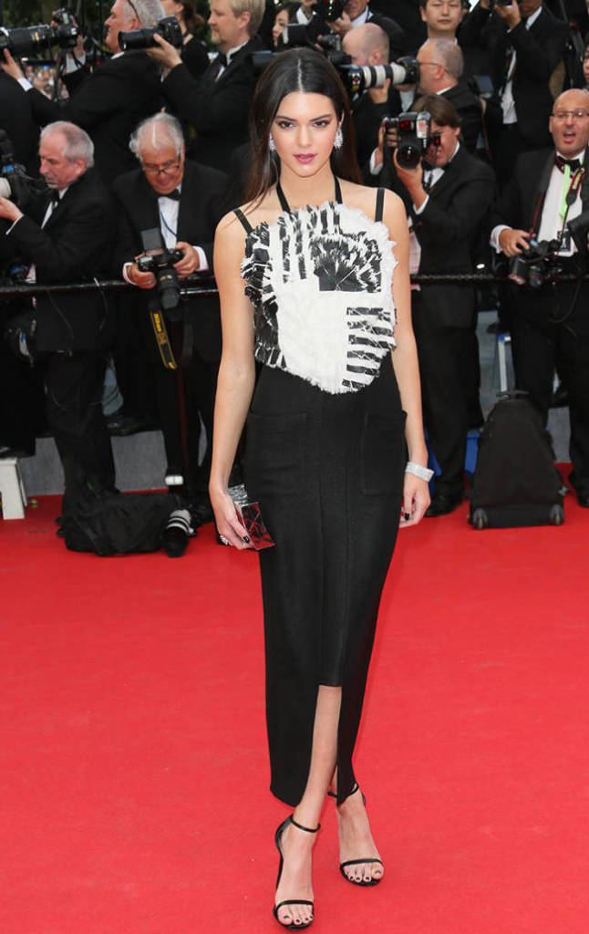 Kendall Jenner, Chanel, Cannes Film Festival, Red Carpet, Black and White