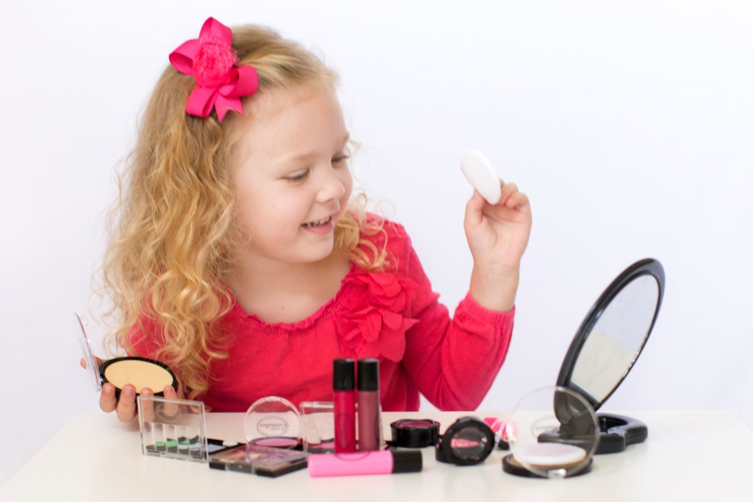 Girls play makeup