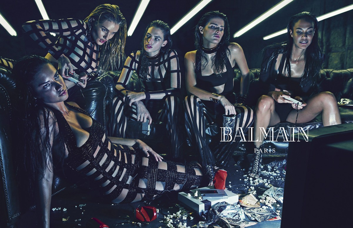 Balmain, Balmain Army, Supermodels, Spring Summer 15, Campaign, Olivier Rousteing