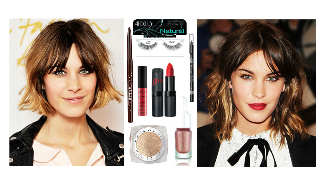 alexa chung, day to night, christmas makeup