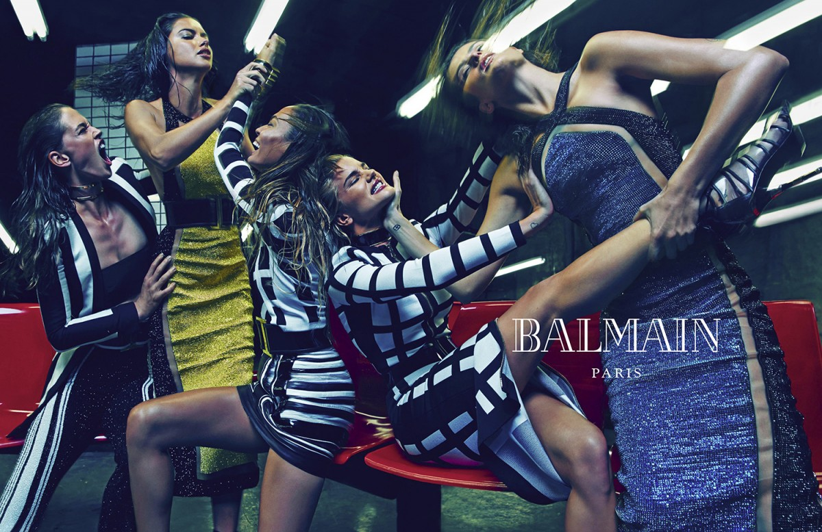 Balmain, Spring Summer 2015, Campaign, Balmain Army, Olivier Rousteing, Supermodels