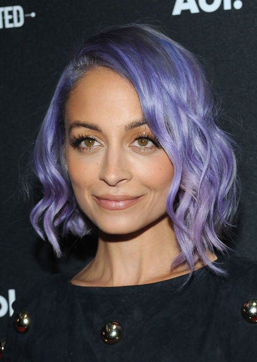 trend talk, pastel hair, nicole richie, mermaid hair, hair inspiration, lilac locks