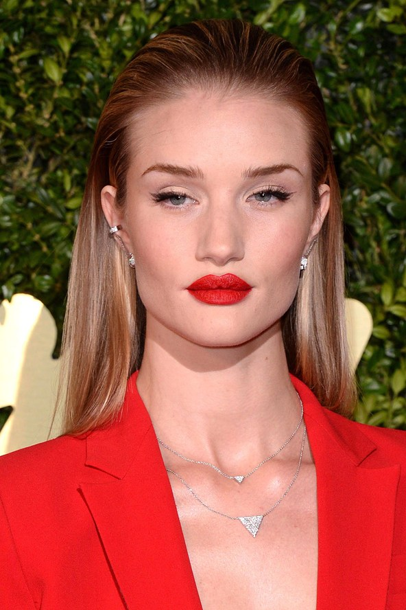 Slicked back hair, Trend Talk, Wet-look hair, Hair trend, Rosie Huntington-Whiteley