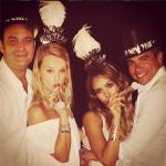 celebrities celebrate new years eve
