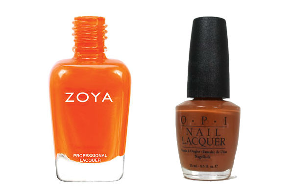 Zoya Nail Polish in Thandie, OPI Nail Lacquer in OPI&Apple Pie