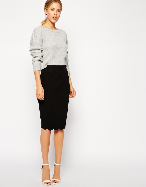 work outfit midi skirt