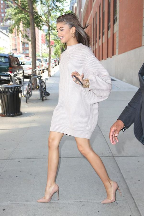 zendaya sweater dress