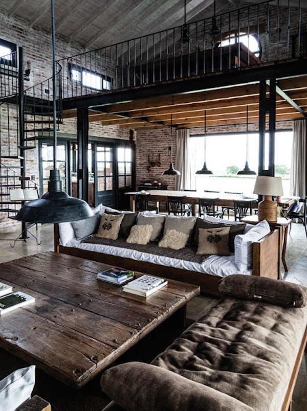 How to industrial style your home style etcetera for Industrial farmhouse plans
