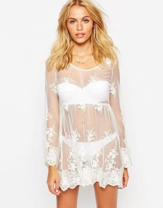 summer, asos, lace mesh dress