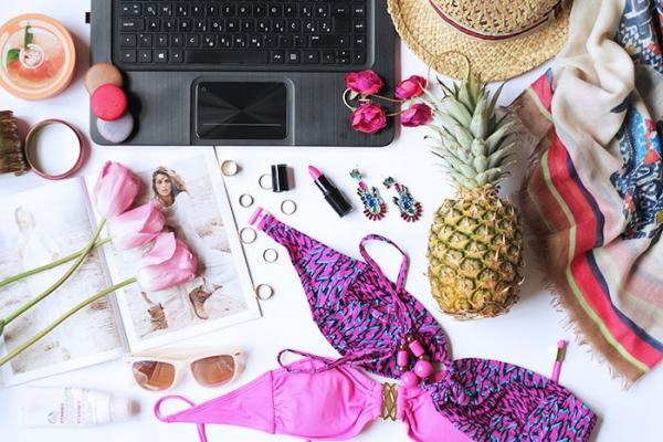 flat lay, summer, beauty, essentials
