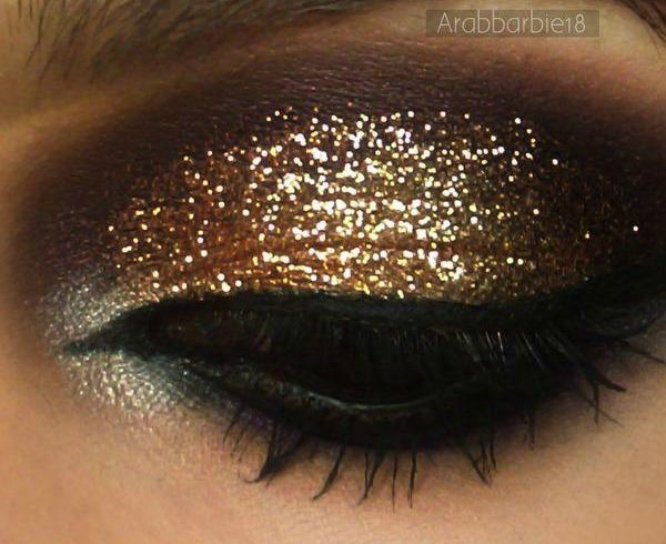 Get the Look, Glitter Eye shadow, Gold