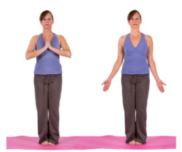 Sun Salutation, Mountain Pose, Yoga