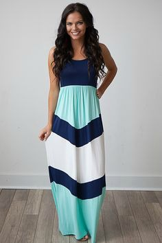 Spring, Dresses, Long, Stripes