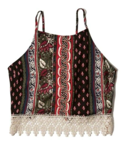 Crop Top, Patterned, Summer
